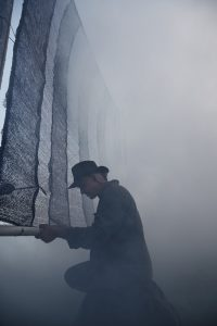 Hangar 1 vodka uses mesh screens to capture and condense Bay Area fog for its Fog Point Vodka