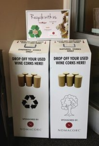 Nomacorc onsite cork recycling program