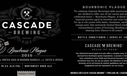 Cascade Brewing to Celebrate 20th Anniversary with Exclusive Bourbonic Plague Bottle Release