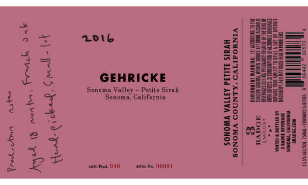 3 Badge Beverage Corporation Expands Gehricke Wines with Addition of Petite Sirah