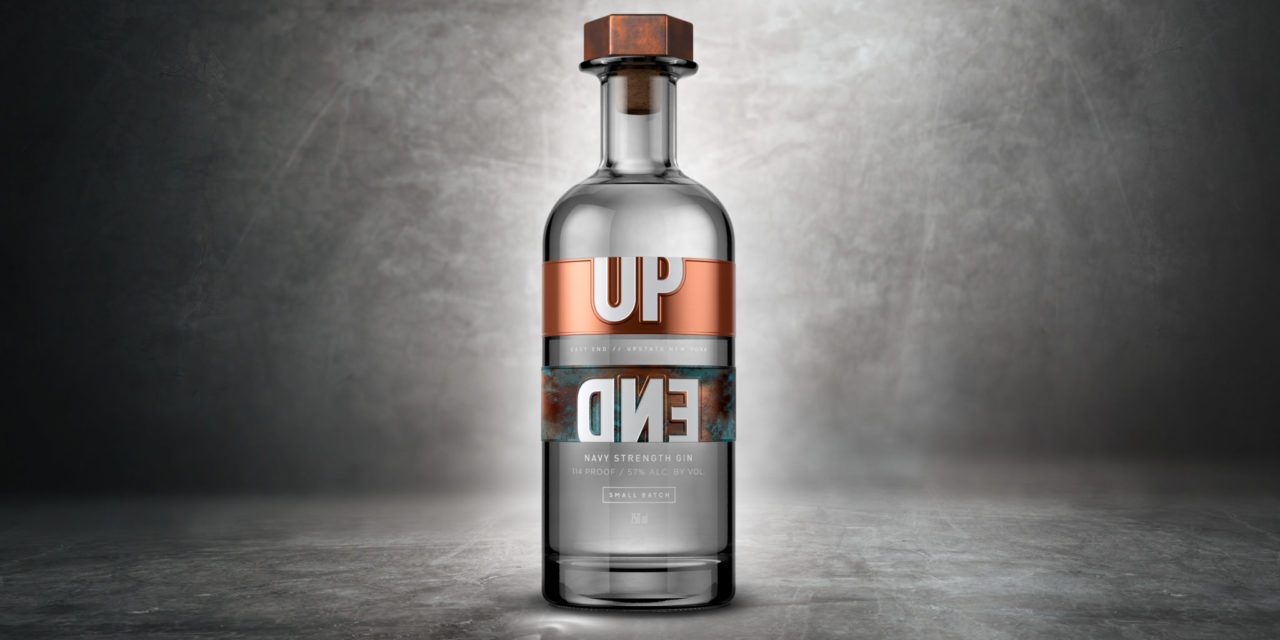 UPEND gin launches with design by Nude Brand Creation