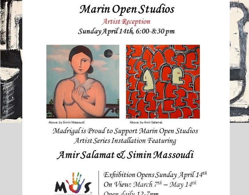4th Annual Marin Open Studios Celebrated at Madrigal Wine Tasting Salon and Gallery in Sausalito