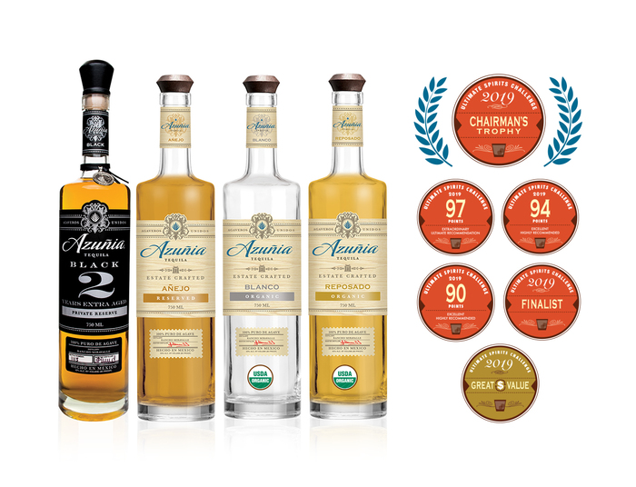 Azuñia Tequila Shines with Top Marks in 2019 Ultimate Spirits Challenge