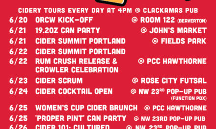 Portland Cider Co. to Take Part in 8th Annual Oregon Cider Week