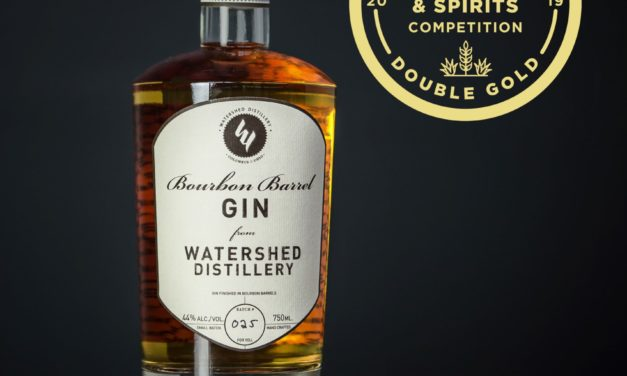 Bourbon Barrel Gin from Watershed Distillery wins double gold