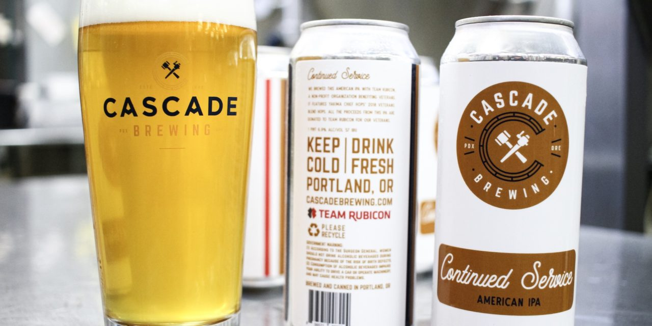 Cascade Brewing Collaborates with Team Rubicon on Veterans Day Beer; brewery will donate 100% of the proceeds raised to the veteran-led disaster response non-profit