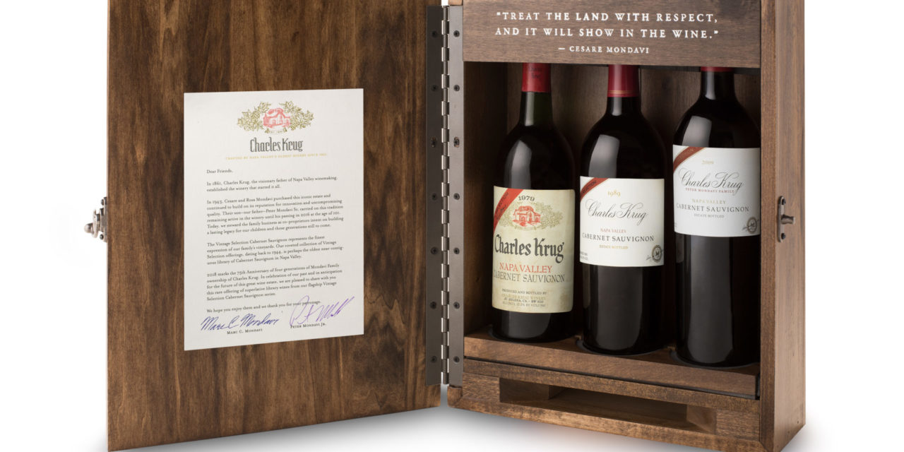 Charles Krug Winery Offers Second Vintage Selection Library Collection