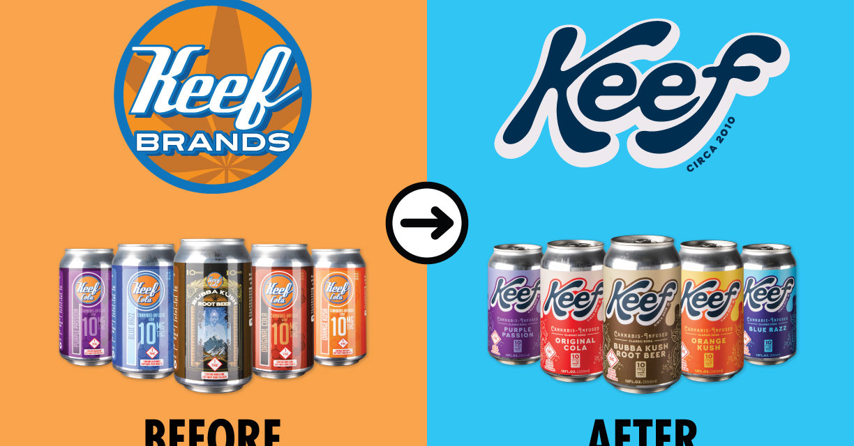 Pioneering Cannabis Beverage Company Keef Brands Announces Rebrand with New Logo, Product Names and Packaging