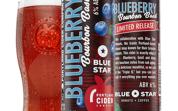 Portland Cider Co. announces January release of Blueberry Bourbon Basil in collaboration with Blue Star Donuts