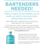 """Gray Whale Gin launches Virtual Bar to """"hire"""" out-of-work bartenders"""