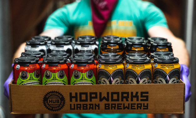 Local B Corp collaboration between Hopworks and Looptworks Foundation turns beer into masks for Central City Concern