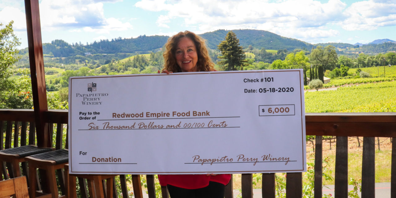 Papapietro Perry Winery Raises Thousands for Hunger Relief
