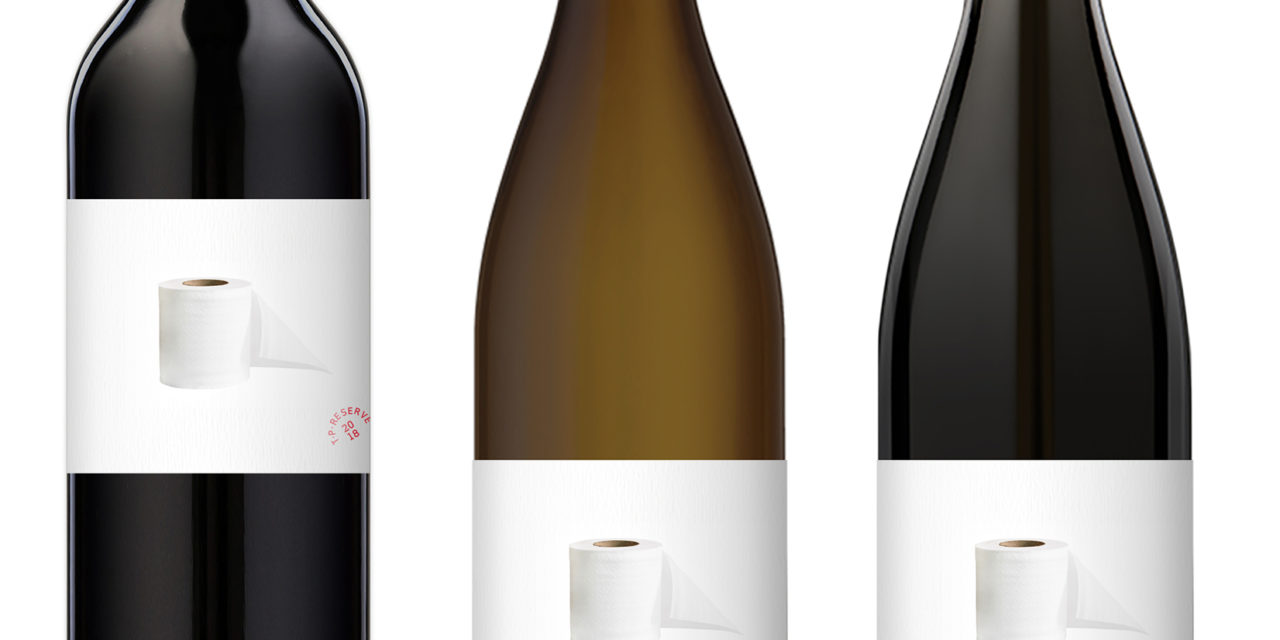 T. P. Reserve wines are here, with a humorous and philanthropic twist