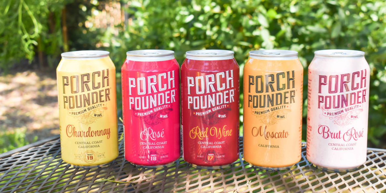 California's Porch Pounder Canned Wines Expands Nationwide; Award-winning wines join Brew Pipeline's Portfolio program