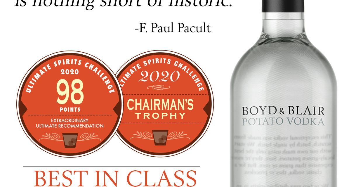 Pennsylvania Pure Distilleries Awarded Best Vodka and Best Rum in 2020 Ultimate Spirits Challenge