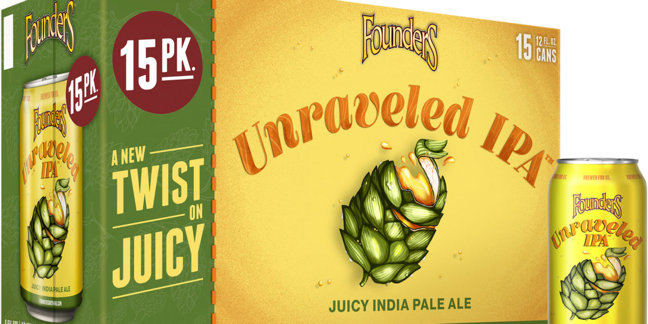FOUNDERS BREWING CO. ANNOUNCES 15-PACKS OF UNRAVELED IPA LAUNCHING IN MICHIGAN