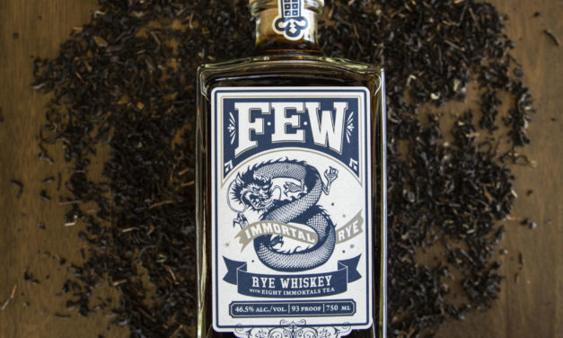 """FEW SPIRITS INTRODUCES FEW IMMORTAL RYE, CASK-STRENGTH FEW STRAIGHT RYE WHISKEY PROOFED TO BOTTLING STRENGTH WITH COLD-EXTRACTED """"8 IMMORTALS"""" TEA"""