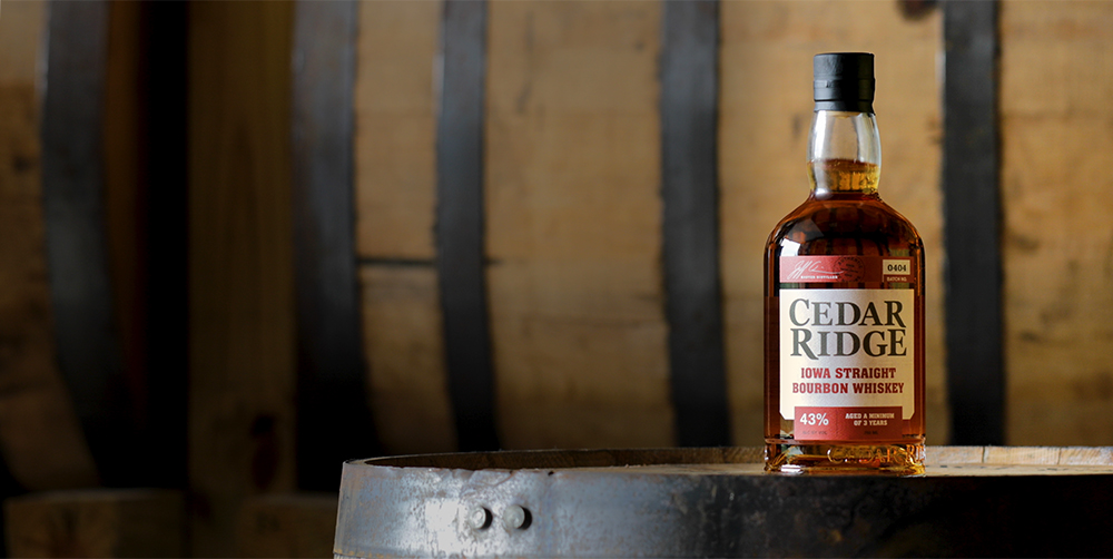 CEDAR RIDGE MAKES HISTORY. BECOMES #1 SELLING BOURBON IN IOWA