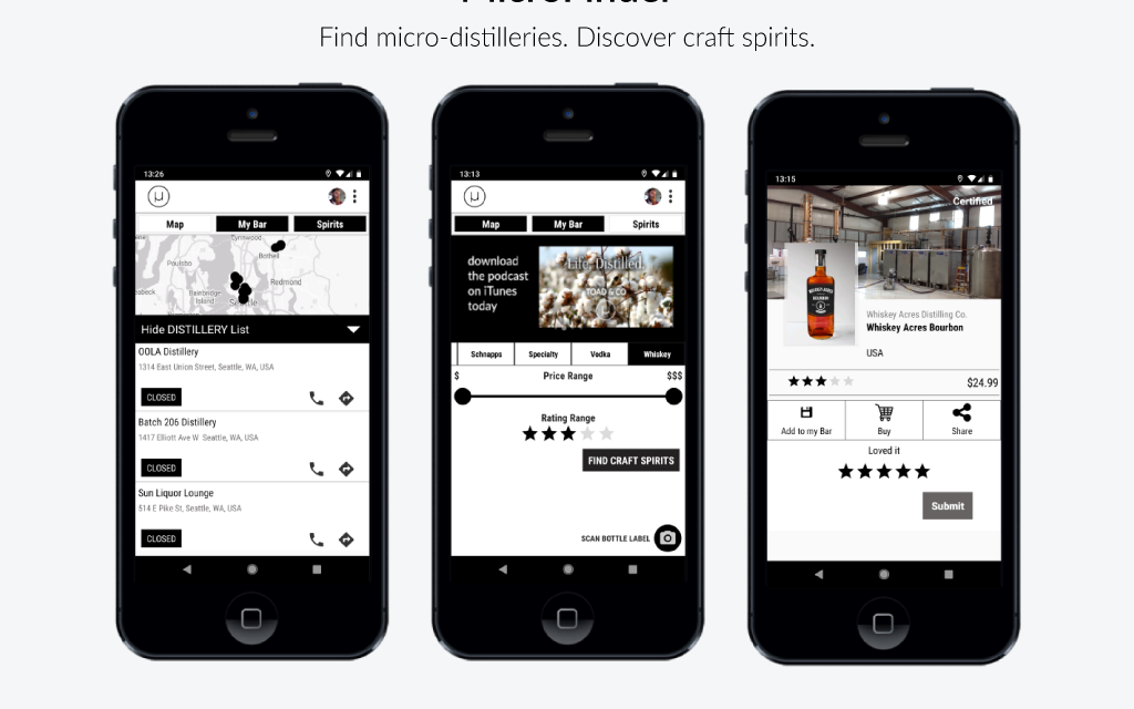 MicroShiner launches mobile app for discovering craft spirits & micro-distilleries
