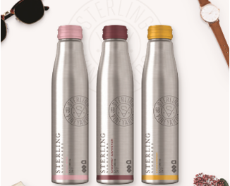 Sterling Introduces Resealable Aluminum Bottles With A Sense of Sterling Style
