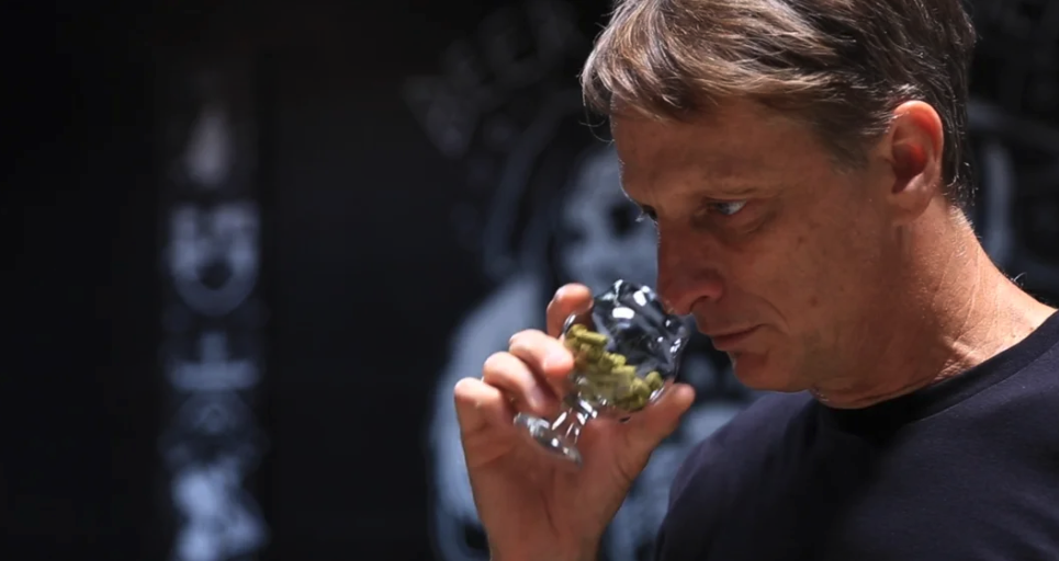 Tony Hawk brews a beer