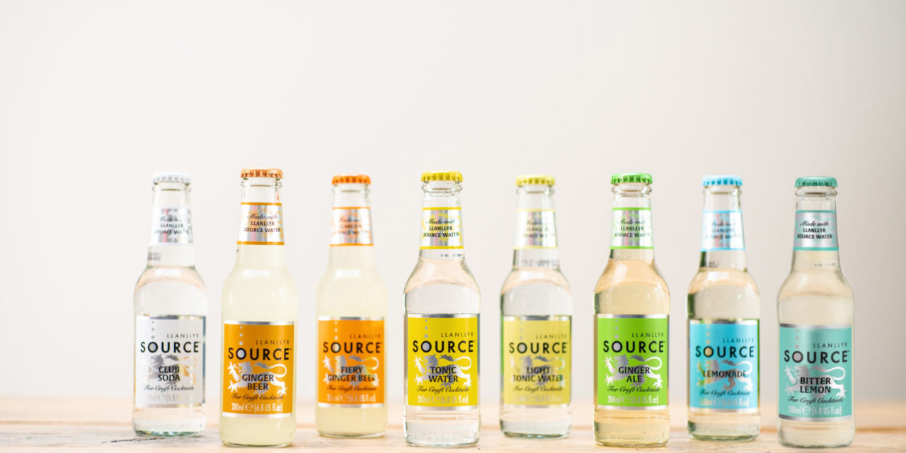 Llanllyr SOURCE launches spring water and natural mixers into Canada