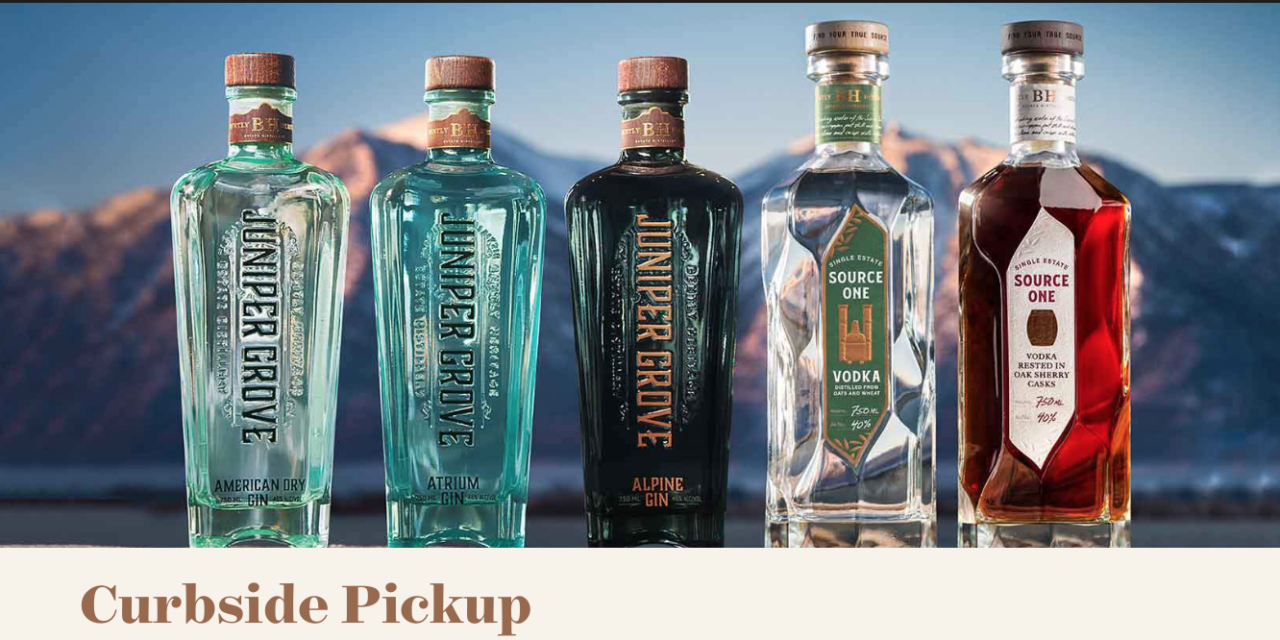 Bently Heritage Estate Distillery Announced Curbside Pickup at their Public House in Minden Starting Today