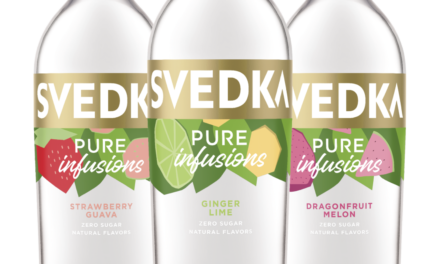SVEDKA Vodka Launches SVEDKA Pure Infusions, A New Line of Vodka Infused with Natural Flavors and Zero Sugar¹