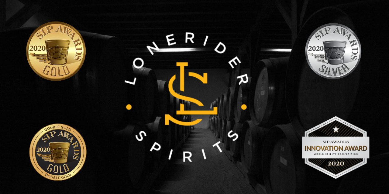 LONERIDER SPIRITS AWARDED FIVE MEDALS AT THE SIP AWARDS INTERNATIONAL SPIRITS COMPETITION