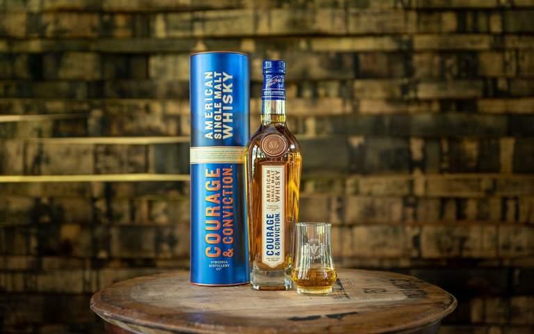 Virginia Distillery Company's 'Courage & Conviction' American Single Malt now available through online marketplace Curiada